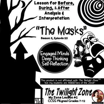 "The Twilight Zone ""The Masks"" - Literacy Worksheets, Writi"