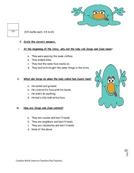 The Twin Club- ( Reading Quiz+Writing Packet+Vocabulary Activities)