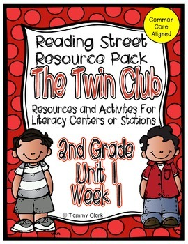 The Twin Club Reading Street Resource Pack 2nd Grade Unit 1 Week 1