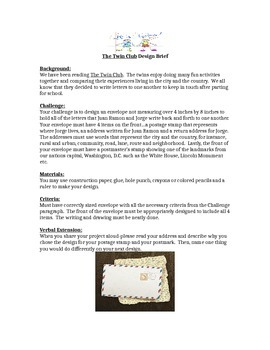 The Twin Club STEM Children's Engineering Design Brief