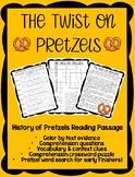 The Twist on Pretzels - Reading Comprehension & Comprehension Crossword Puzzle