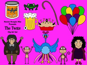The Twits Clip Art Collection: Inspired by the Novel by Roald Dahl