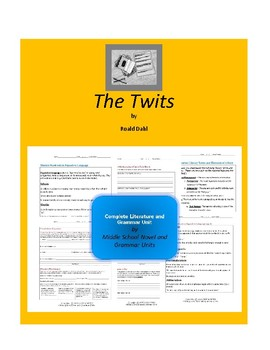 The Twits Complete Literature and Grammar Unit