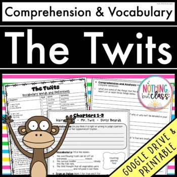 The Twits: Comprehension and Vocabulary by chapter