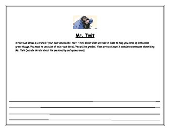 The Twits: Mr. Twit, Visualization Activity