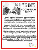 The Twits Vocabulary Bingo