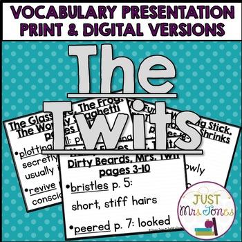 The Twits Vocabulary Presentation