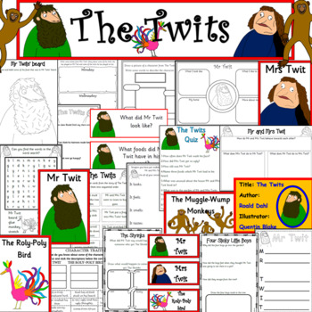 The Twits book study unit- ROALD DAHL