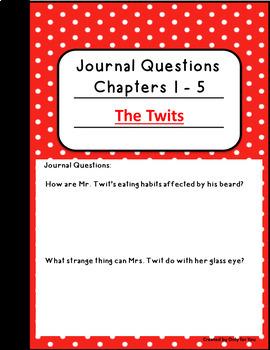 The Twits by Roald Dahl: DIGITAL NOVEL NOTEBOOK