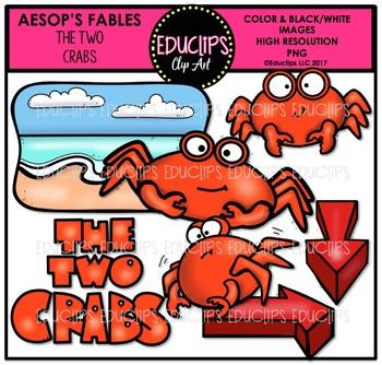 The Two Crabs Clip Art Bundle {Educlips Clipart}