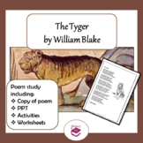 The Tyger: PPT, poem and worksheets