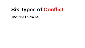 The Types of Conflict