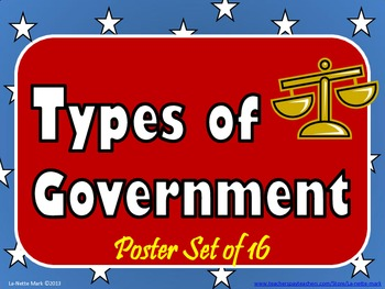 The Types of Goverment - Poster Set