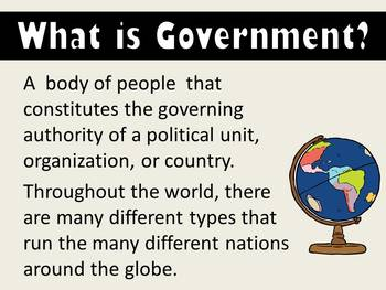 The Types of Government PowerPoint