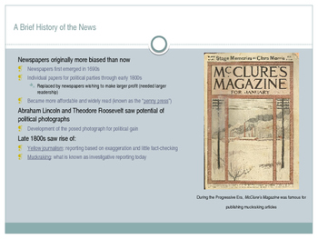 The Types of, Role of, and History of Media in America: An Overview
