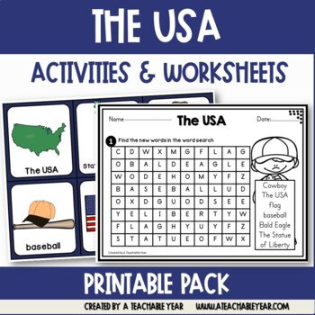 The USA- Vocabulary Pack