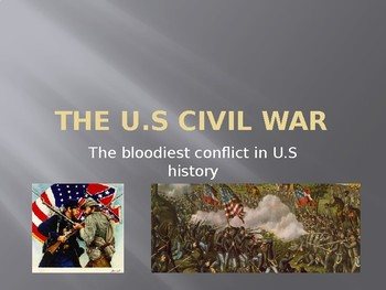 The U.S. Civil War Full PowerPoint 2017 Unit Covering abides by common core.