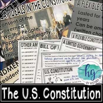 The U.S. Constitution PowerPoint and Guided Notes