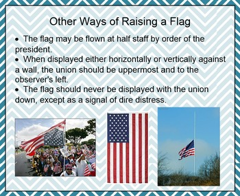 The U.S. Flag and Flag Etiquette