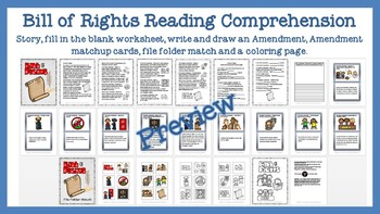 The U.S. Government Reading Comprehension, Worksheets, and Matching Bundle