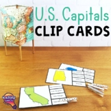 The U.S. States & Capitals Geography Pick 'n Flip Clip Cards Map Center Activity