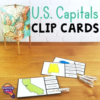 The U.S. States & Capitals Geography Pick 'n Flip Clip Cards