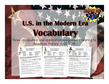 The U.S. in the Modern Era Vocabulary