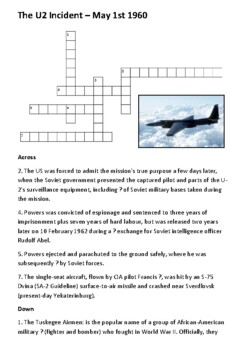 The U2 Incident Crossword
