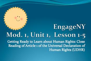 The UDHR - Grade 5 ELA Module 1, Unit 1, Lessons 1-5!