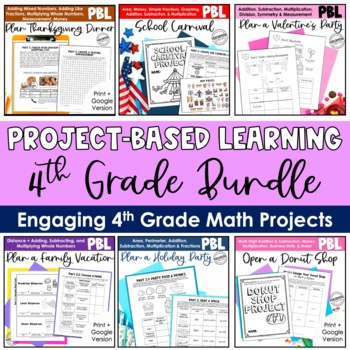 The ULTIMATE 4th Grade Common Core Math Bundle - Interactive Notebooks + PBL