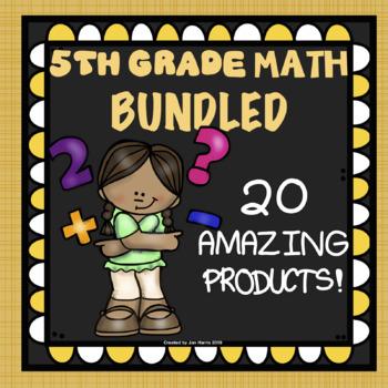 The ULTIMATE 5th Grade Math Curriculum BUNDLE