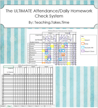 The ULTIMATE Attendance and Daily Homework Check