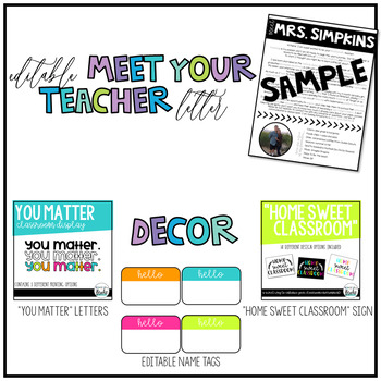 The ULTIMATE Back to School Activity + Resource Pack!   EDITABLE OPTIONS!