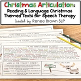 Christmas Articulation: Reading and Language Speech Therap