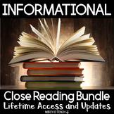 Informational Text Close Reading Passages {ULTIMATE BUNDLE}