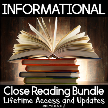 Informational Text Close Reading Passages {ULTIMATE BUNDLE}