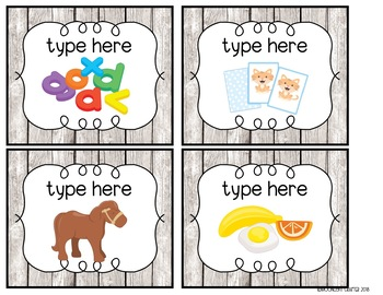 The ULTIMATE EDITABLE Set of Classroom Labels
