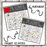 The ULTIMATE Set of Tags and Labels: A PRINT AND GO AND AN EDITABLE VERSION!