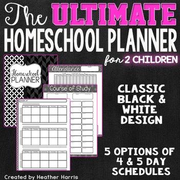 The ULTIMATE Homeschool Planner {2 children}