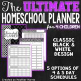 The ULTIMATE Homeschool Planner {4 children}