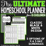 The ULTIMATE Homeschool Planner {5 children}