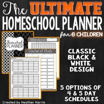 The ULTIMATE Homeschool Planner {6 children}