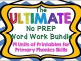 The ULTIMATE No Prep Word Work Bundle: 19 Units of Phonics Printables