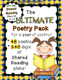 The ULTIMATE Poetry Pack ~ a year of poetry w/ daily Shared Reading Plans