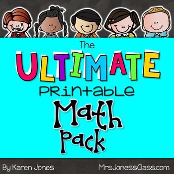 The ULTIMATE Printable Math Pack: Kindergarten Math by Karen Jones