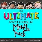 The ULTIMATE Printable Math Pack: Kindergarten Math