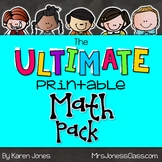 The ULTIMATE Printable Math Pack: Kindergarten Math and Fi