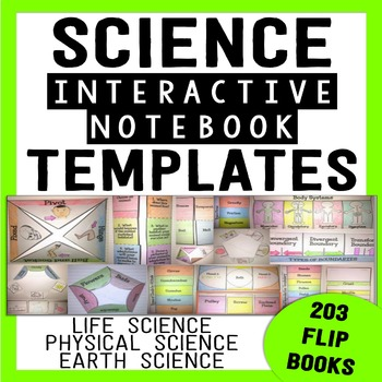 science interactive notebook templates 203 foldable flip books