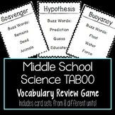 Science Vocabulary Review Game BUNDLE