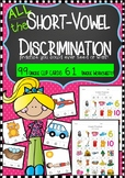 The ULTIMATE Short Vowel Discrimination Clip Cards and Wor